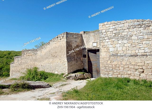 The main gate, Cufut Qale, Chufut-Kale Jewish Fortress Crimea, Ukraine, Eastern Europe
