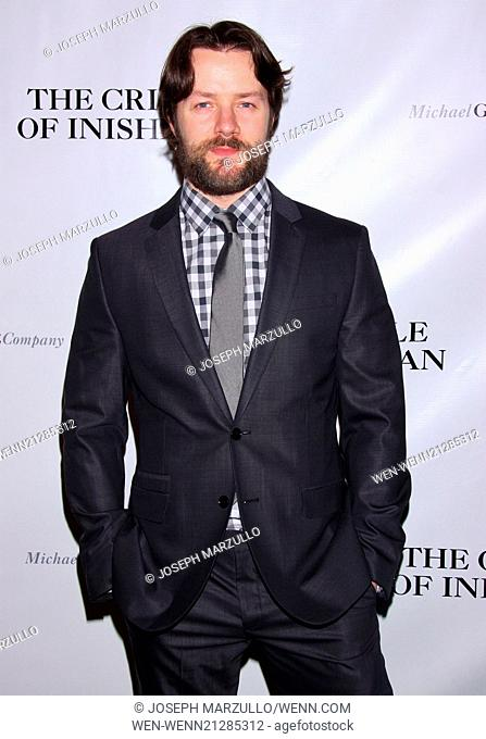 Opening night after party for The Cripple of Inishmaan at the Edison Ballroom - Arrivals Featuring: Padraic Delaney Where: New York, New York