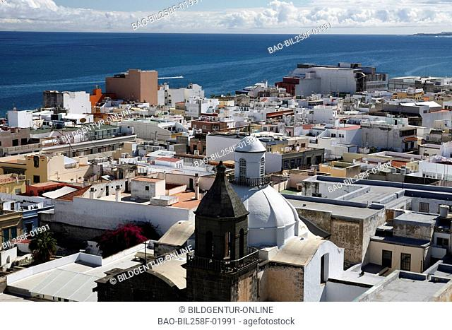 The cathedral Santa Ana in the Stata Ana Platz in reading Palmas of the capital the insel grain Canaria on the Canary islands in the Atlantic, Spain