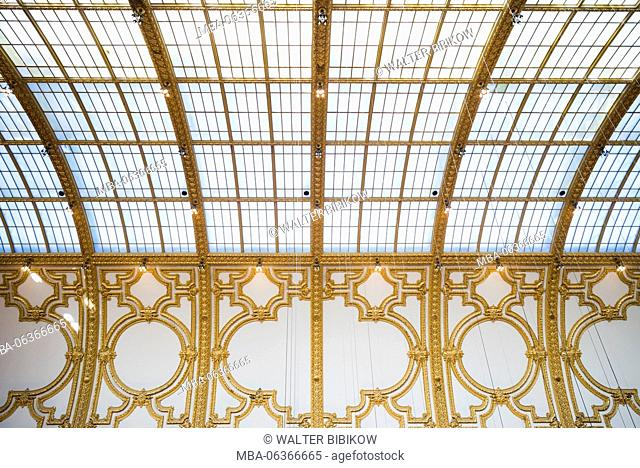 Belgium, Antwerp, Stadsfeestzaal, new shopping mall in restored 1908 exhibition hall
