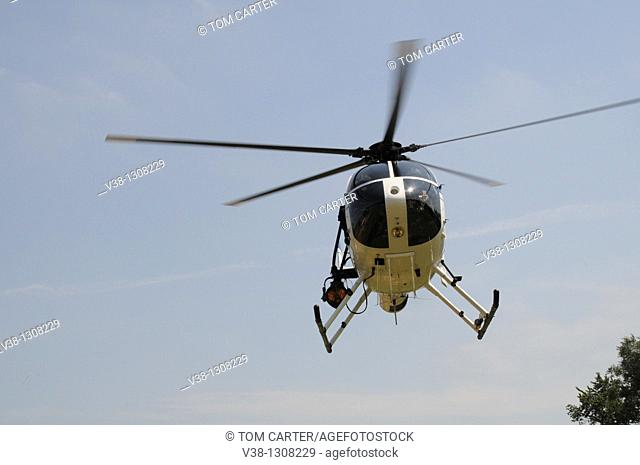 Police helicopter. Edmonston, Maryland, USA