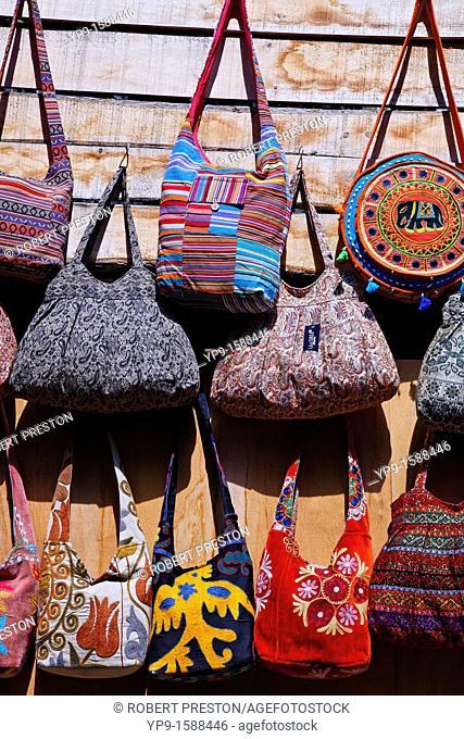 Shop display of handbags inside the Grand Bazaar, Istanbul, Turkey