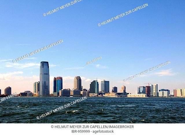 Jersey City Skyline and Hudson River, Jersey City, USA