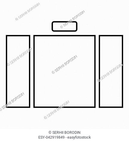 Suitcase icon black color vector illustration flat style simple image