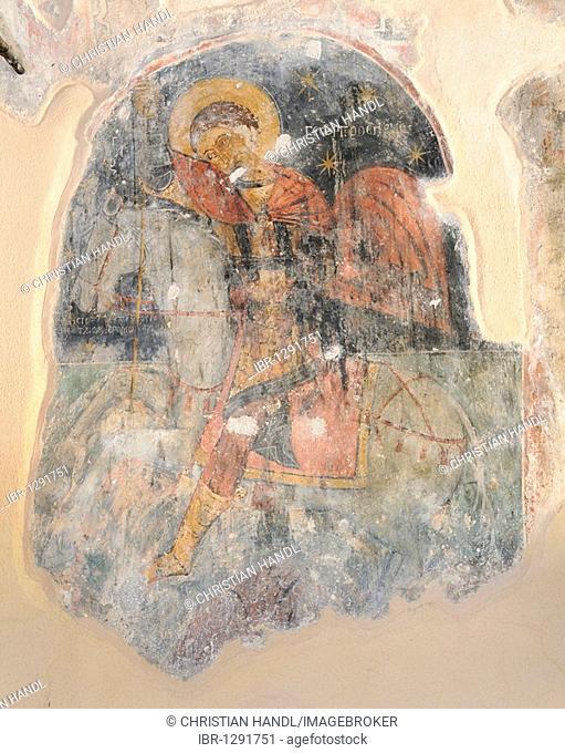 Frescoes in the church Agia Geórgios Vardas, 1290, Rhodes, Greece, Europe