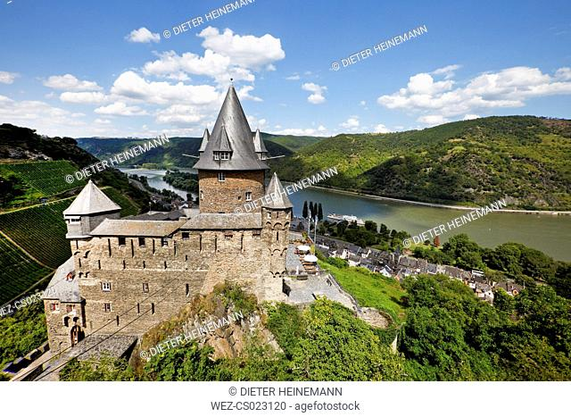 Germany, Rhineland-Palatinate, Bacharach, Stahleck Castle