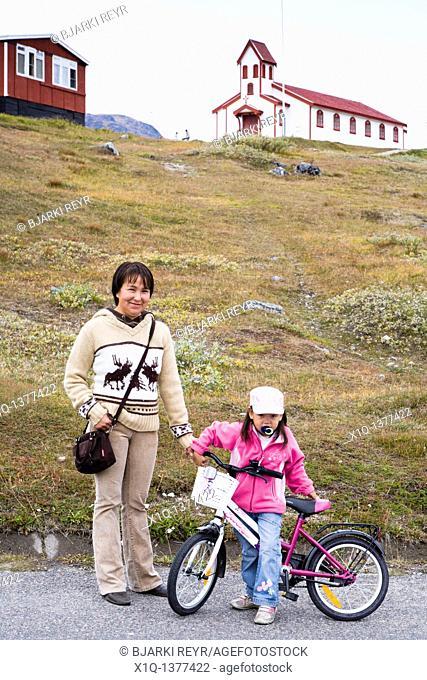 Mother and daughter, Narsaq, South Greenland
