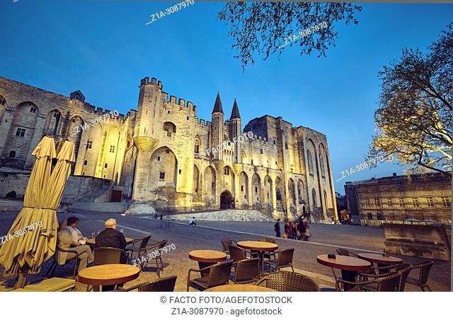 The Papal palace. UNESCO World heritage site. Avignon. Provence-Alpes-Côte d'Azur. France