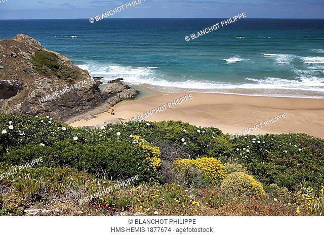 Portugal, Algarve, Aljezur, Vicentine Coast Natural Park, Praia de Odeceixe