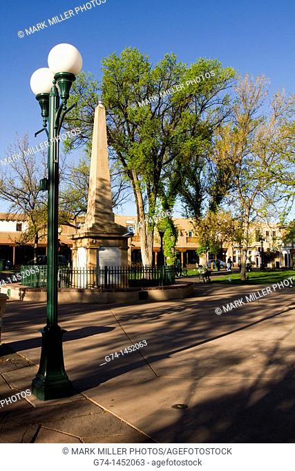 Indian War Memorial Monument, the Plaza,Santa Fe, New Mexico, USA