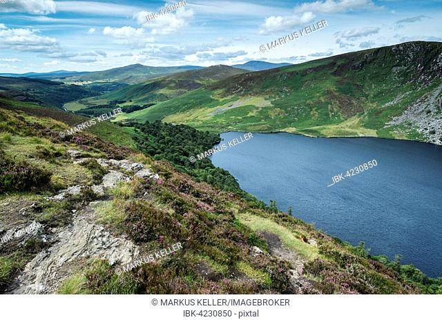 Lough Tay mountain lake in Wicklow National Park, County Wicklow, Ireland