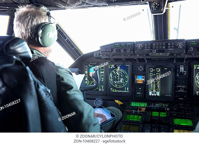 Helicopter dashboard control Stock Photos and Images   age
