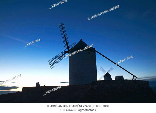 Windmills, Campo de Criptana. Ciudad Real province, Castilla-La Mancha, Spain