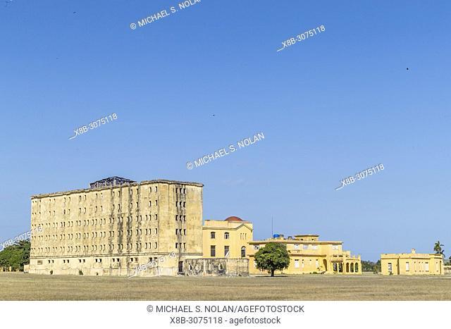 Exterior view of the Presidio Modelo, Model Prison, built in the late 1920's on Isla de la Juventud, Cuba