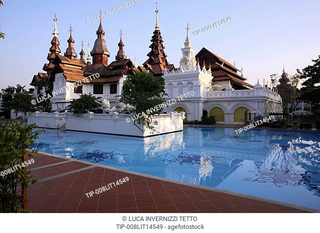 Swimming pool oriental hotel Stock Photos and Images | age