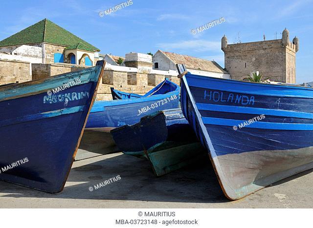 Fishing boats, Essaouira, Atlantic coast, Morocco