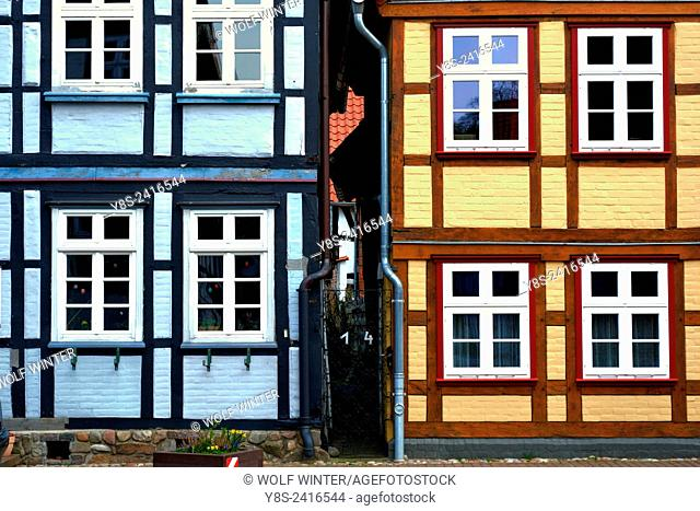 Half-timbered Houses at Hitzacker.. Lower Saxony, Germany