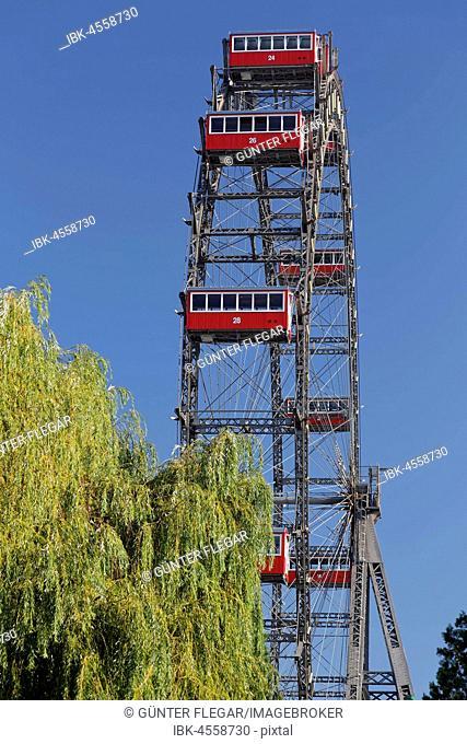 Vienna Giant Ferris Wheel, amusement park, Wiener Wurstelprater, Prater, Vienna, Austria