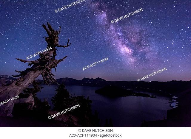 Milky Way, Crater Lake National Park, Oregon, USA