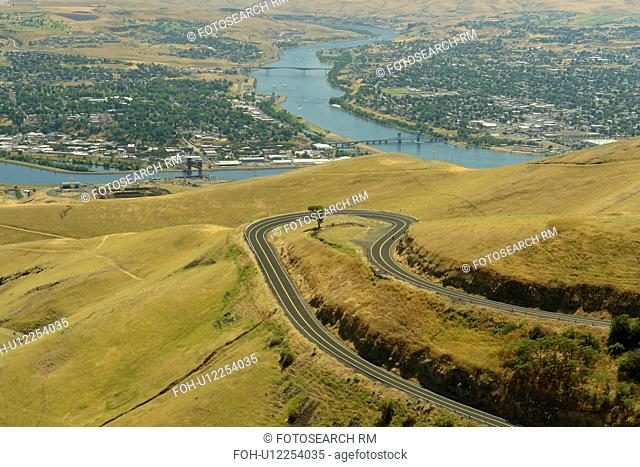 ID, Idaho, WA, Washington, Snake River, Clearwater River, Lewiston Hill, overlook, Lewiston/Clarkston