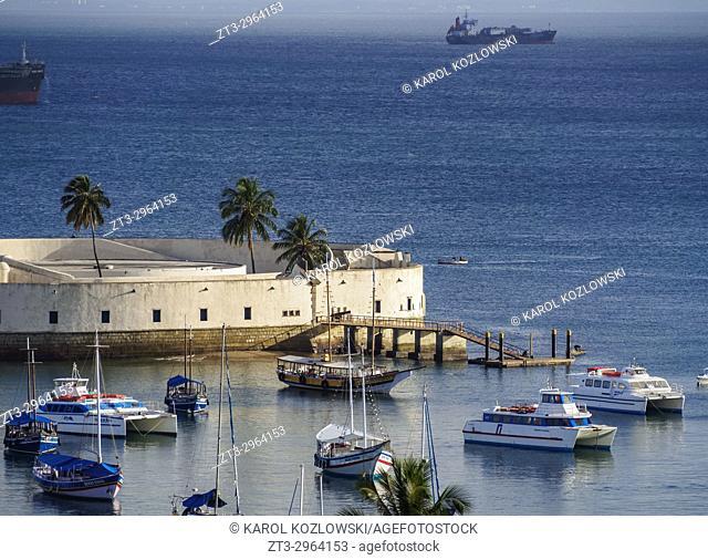 Sao Marcelo Fort, All Saints Bay, Salvador, State of Bahia, Brazil