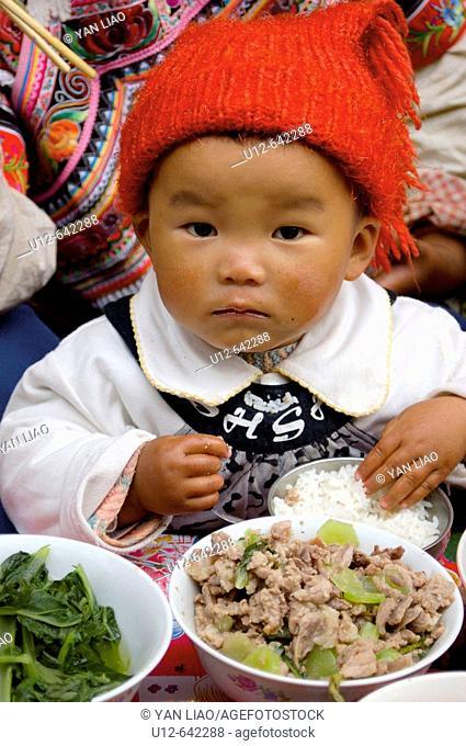 Hani minority traditional festival. Yunnan. Yuanyang. China