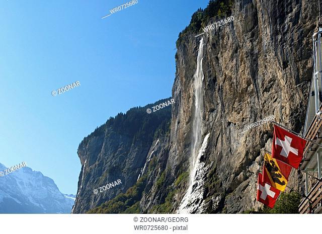 The Staubbach Falls, Lauterbrunnen, Switzerland