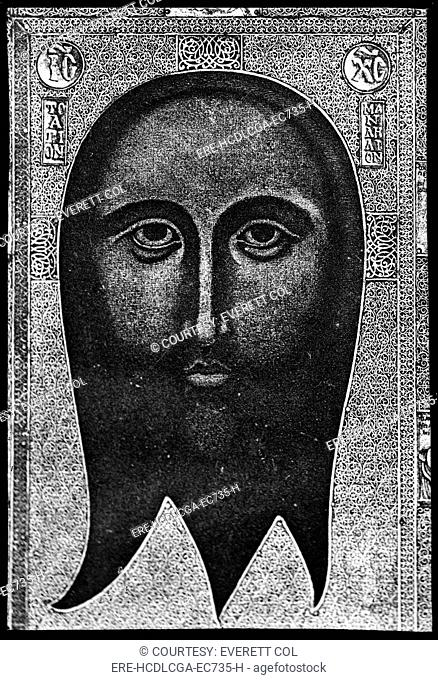 Painting of the handkerchief of St. Veronica, circa 1900-1920