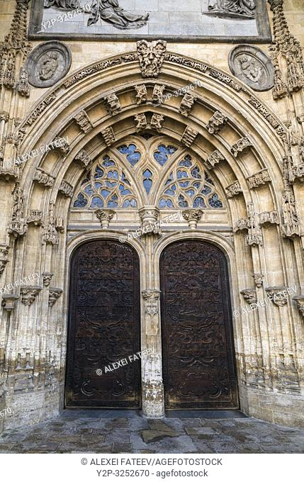 Portal of Cathedral of San Salvador in Oviedo, Asturias, Spain