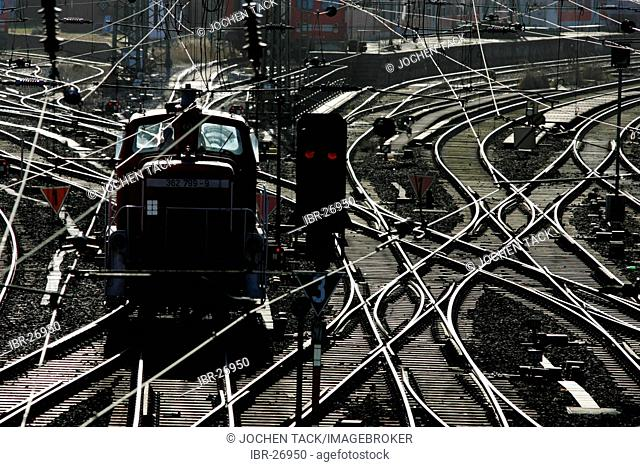 DEU, Federal Republic of Germany, Hamburg: German Railway, tracks at Hamburg main railway station