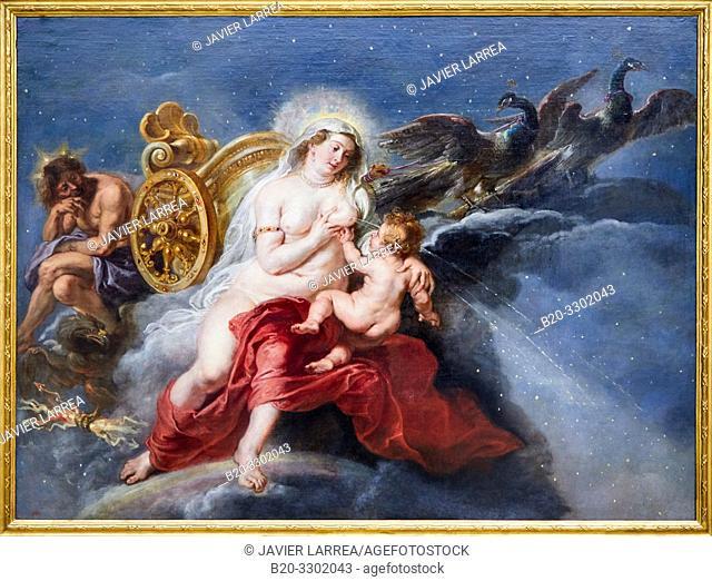 """""""The Birth of the Milky Way"""", 1636 - 1638, Peter Paul Rubens, Prado Museum, Madrid, Spain, Europe"""