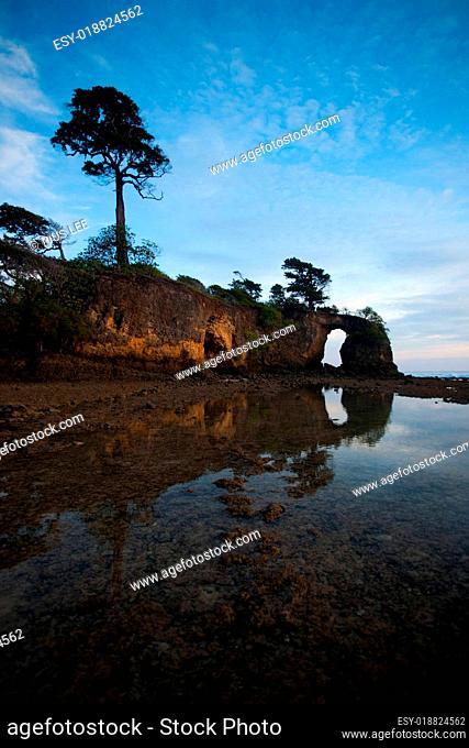 Sky Mirrored Natural Bridge