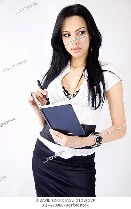 Transexual model, secretary