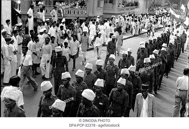 Independence Day Celebration, Bombay, Mumbai, Maharashtra, India, 15th Aug. 1947