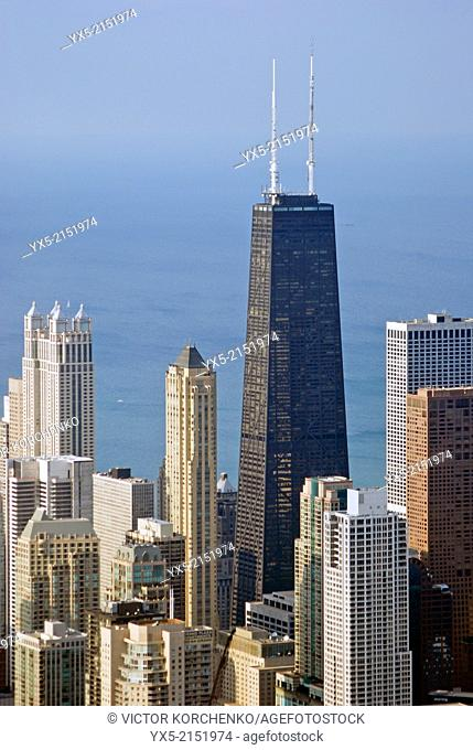 Hancock Observatory building in Chicago