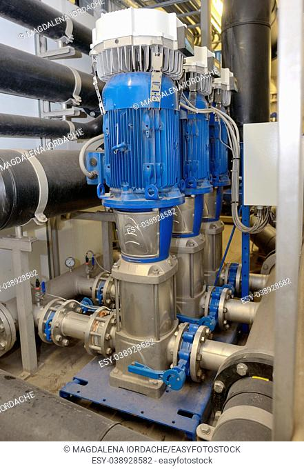 reverse water osmosis equipment inside of plant