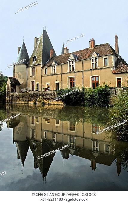 Castle of Gerigny, La Charite-sur-Loire, Nievre department, Burgundy region, France, Europe