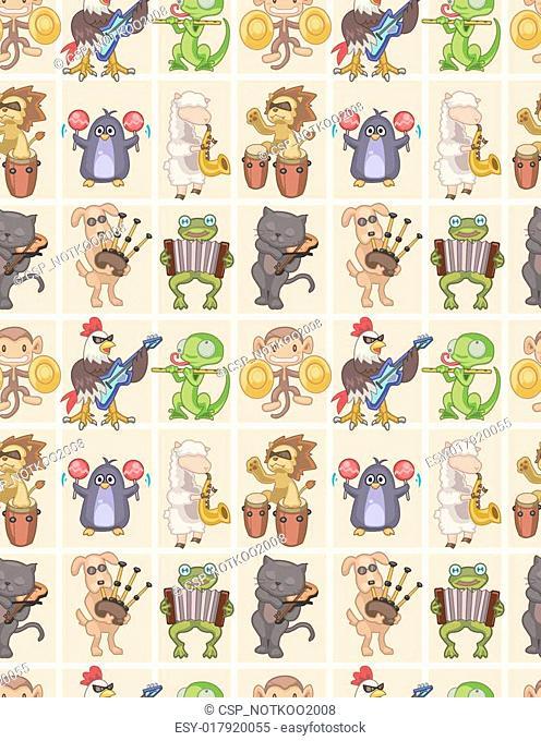seamless animal play music pattern