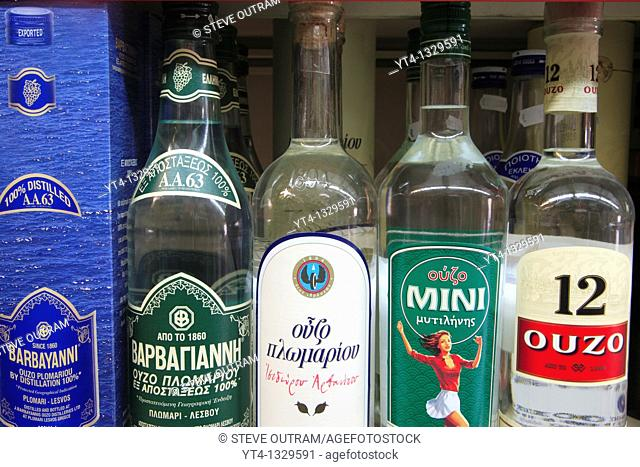 Iconic Greece  Bottles of Ouzo