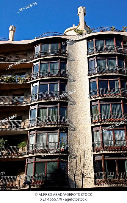 residential building, district of Sant Gervasi, Barcelona, Catalonia, Spain