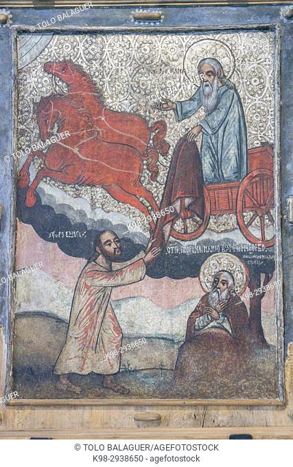 el profeta Elias, Weremien, siglo XVII, museo de los iconos, castillo Real, Sanok, Podkarpackie Voivodeship, Poland, Eastern Europe