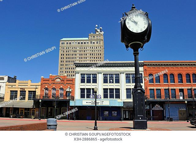 Crockett Street Entertainment District, historic buildings that have been restored to host Beaumont's best nightclubs and restaurants, Texas