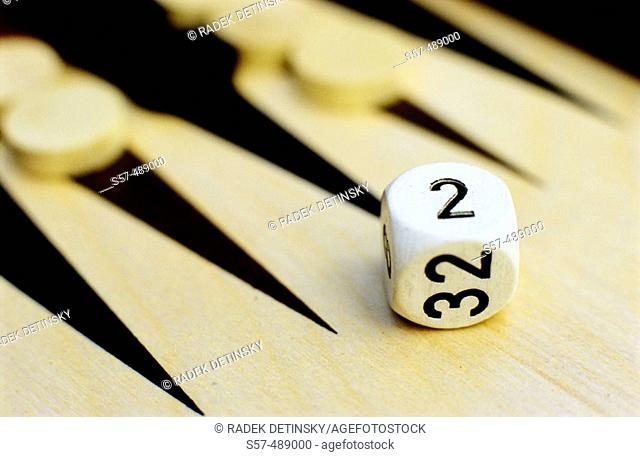 Dice, table game, backgammon