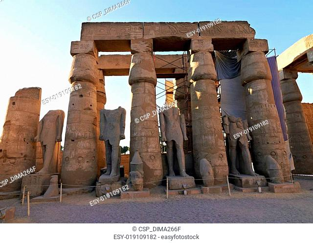 Ruins of Luxor Temple in Egypt