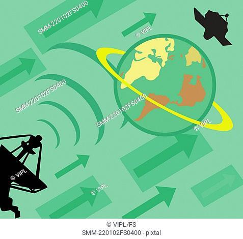 Worldwide satellite connection