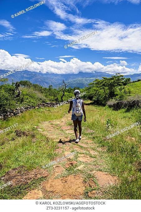 Camino Real, Royal Road from Barichara to Guane, Santander Department, Colombia