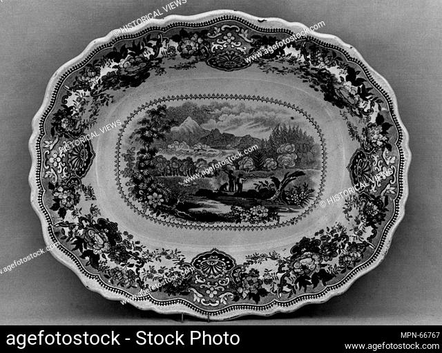 Vegetable Dish. Maker: William Adams & Sons (British, active ca. 1819-present); Date: ca. 1834-ca. 1864; Geography: Made in Staffordshire, Stoke-on-Trent