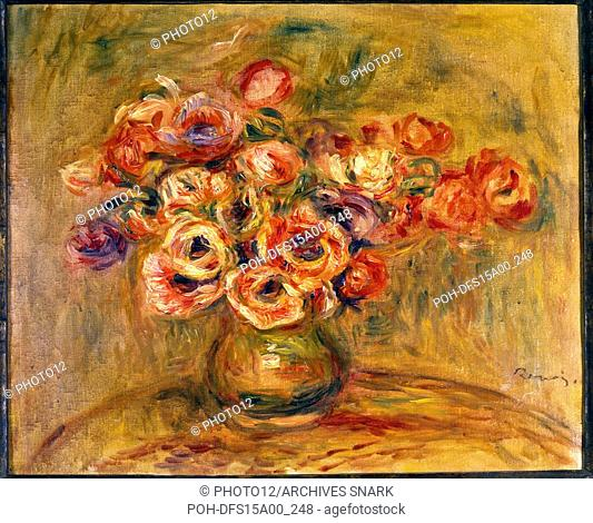 Auguste Renoir French school Still life of anemones in a vase c.1905 Oil on canvas Private collection Auguste Renoir (1841-1919)