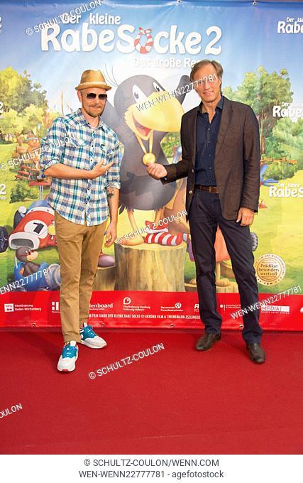 Celebrities attending the premiere of Der kleine Rabe Socke 2 at Zeise Cinema Featuring: Jan Delay, Gerd Delling Where: Hamburg