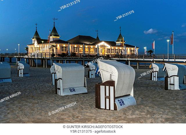 The Ahlbeck pier is a pier on the Baltic Sea. The pier is 280 meters long. It was built in 1882 and rebuilt several times, Ahlbeck, Usedom Island